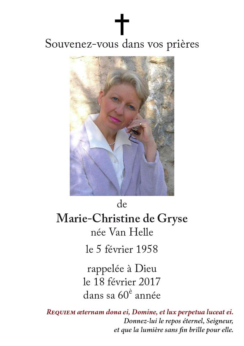 Marie-Christine de Gryse